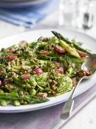 Grilled Radishes, Fennel and Asparagus Salad with a Caper Dressing - thumb