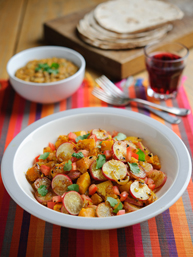Indian Spiced Radishes and Pumpkin - thumb
