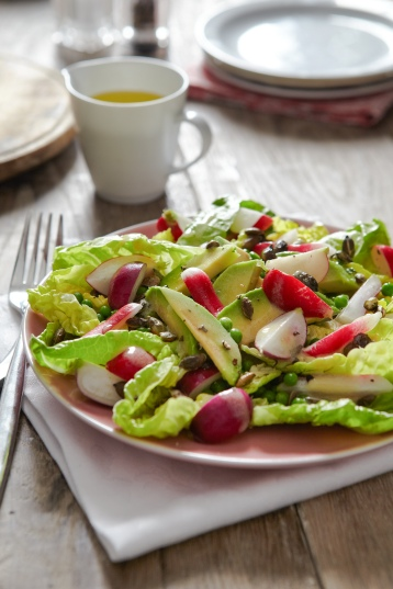 Lowri Turner's radish, avocado and pumpkin seed salad