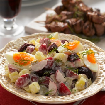 Russian radish and potato salad